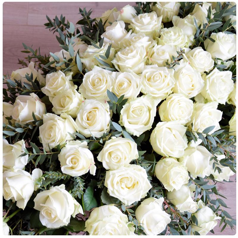 Livraison de fleurs de deuil